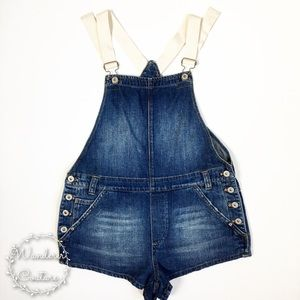 FP Shapeless Denim One Piece Overall Shorts